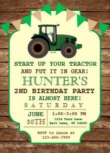 Tractor birthday invitations zazzle tractor birthday invitation farm birthday invitation filmwisefo