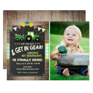 Tractor invitations announcements zazzle tractor birthday invitation farm party boy green filmwisefo Choice Image