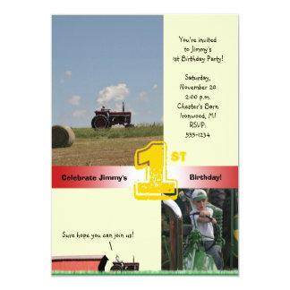 Tractor Birthday Invitation: International Tractor Card