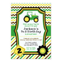 Tractor Birthday Invitation with Envelopes