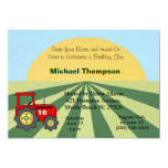 "Tractor  Birthday Invitations 5"" X 7"" Invitation Card"