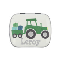 Tractor Birthday Party Favor Candy Tin