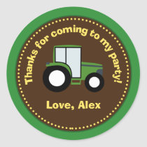 Tractor Birthday Party Favor Stickers