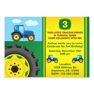 Tractor Birthday Party Invitation any age