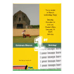 Tractor Birthday Party Invitation:  Barn & Tractor