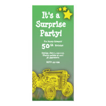 Tractor Birthday Party Invitation [enlarged age]