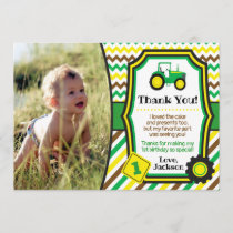 Tractor Birthday Thank You Card with Envelopes
