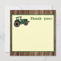 Tractor Birthday Thank You, Farm Birthday Thank You Card