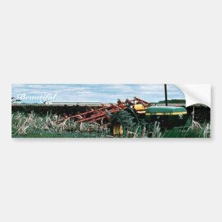 Tractor Bogs plowing wetlands Bumper Sticker