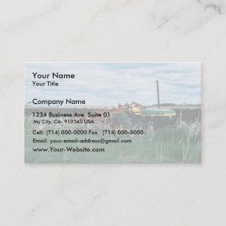 Tractor Bogs plowing wetlands Business Card