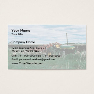 Tractor Bogs plowing wetlands Business Card