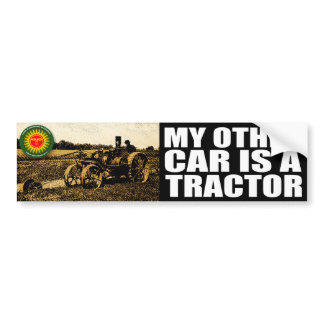 tractor bumper sticker