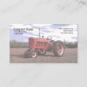 Tractor business cards zazzle tractor business card colourmoves