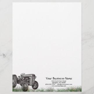 Tractor Business Letterhead
