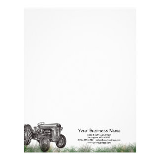 Tractor Business Letterhead