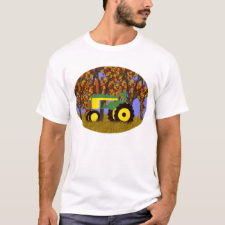 Tractor by Autumn Trees 1 T-Shirt