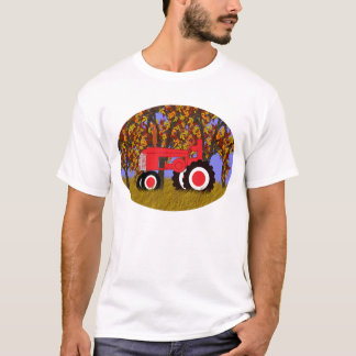 Tractor by Autumn Trees 2 T-Shirt