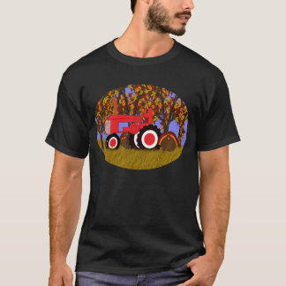 Tractor by Autumn Trees and Turkeys 2 T-Shirt