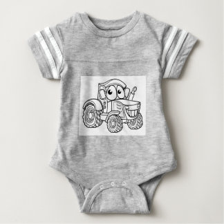 Tractor Cartoon Character Baby Bodysuit