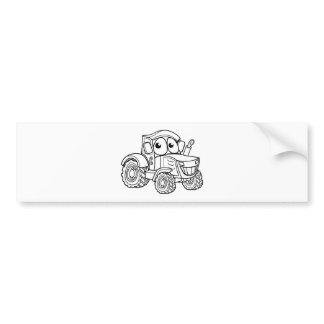 Tractor Cartoon Character Bumper Sticker