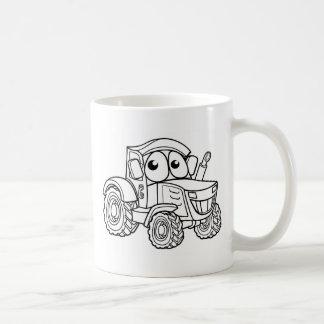 Tractor Cartoon Character Coffee Mug