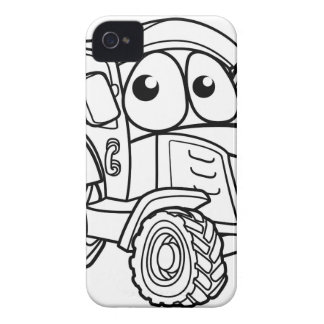 Tractor Cartoon Character iPhone 4 Case