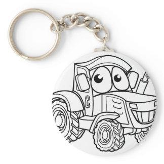 Tractor Cartoon Character Keychain