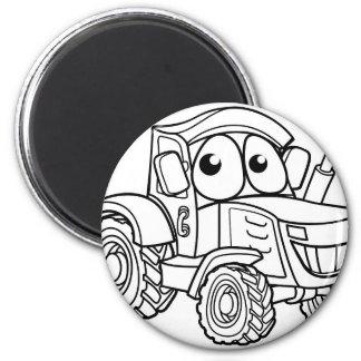 Tractor Cartoon Character Magnet