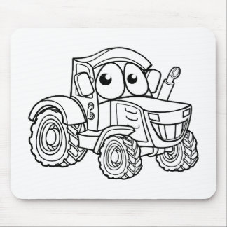 Tractor Cartoon Character Mouse Pad
