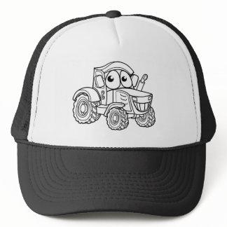 Tractor Cartoon Character Trucker Hat
