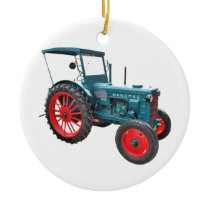Tractor Ceramic Ornament