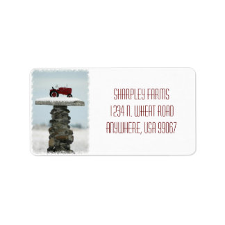 Tractor Christmas Address Labels