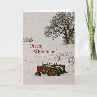 Tractor Christmas Card