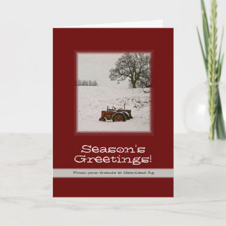 Tractor Christmas Card: Add Your Business Name Holiday Card