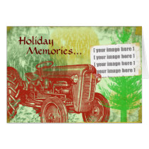 Tractor Christmas Card: Add your photo Card