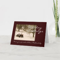 Tractor Christmas Card for Business or Family