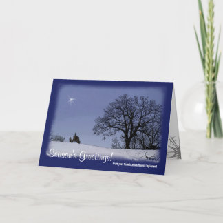 Tractor Christmas Card: From Your Business Holiday Card