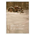 Tractor Christmas Card: Peace for all old tractors