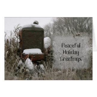 Tractor Christmas Card: Peaceful Card