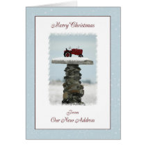 Tractor Christmas From Our New Address Card