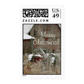 Tractor Christmas Postage