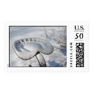 Tractor Christmas Stamp