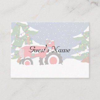 Tractor Christmas Wedding Table Place cards