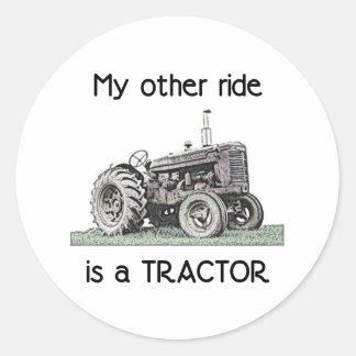 Tractor Classic Round Sticker