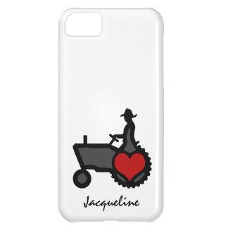 Tractor con amor del corazón el país funda para iPhone 5C