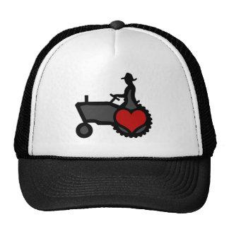 Tractor con amor del corazón el país gorras de camionero