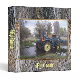 Tractor  Creek Clearing 3 Ring Binder
