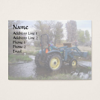 Tractor  Creek Clearing Business Card