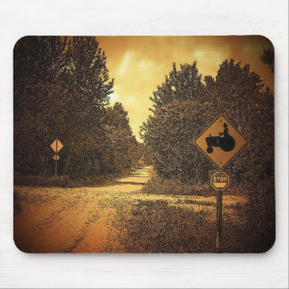 Tractor Crossing Mouse Pad