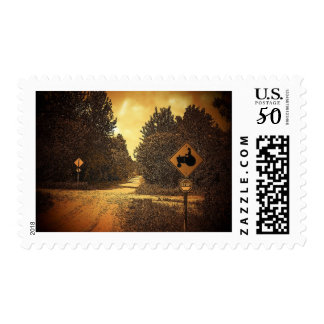 Tractor Crossing Postage